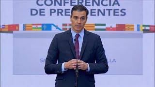 """Sánchez pide """"nivelar la cohesión territorial"""" y evitar desigualdades entre CCAA"""