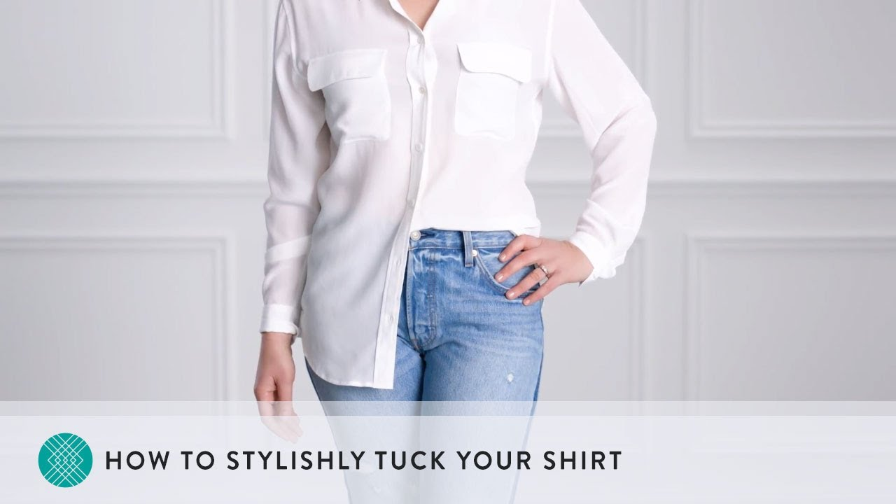 9a1877206e How to Stylishly Tuck Your Shirt - YouTube