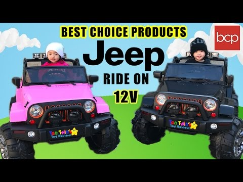 Best Choice Products Ride on Jeep Car 12v Toys With Remote Kids Toddlers Fun Tan Twins Toy Review