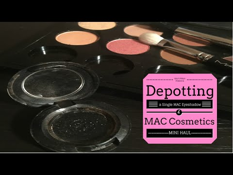 Depotting a Single Eyeshadow from MAC Cosmetics + Mini Haul