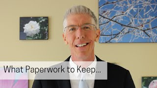 What Paperwork to Keep...      // Mark's Minute on Money //