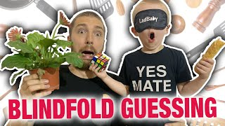 Blindfold guessing challenge against a 4 year old 👀🙈