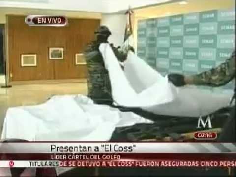 """Presenta la SEMAR a Eduardo Costilla """"El Coss"""", presunto líder del Cártel de Golfo"""