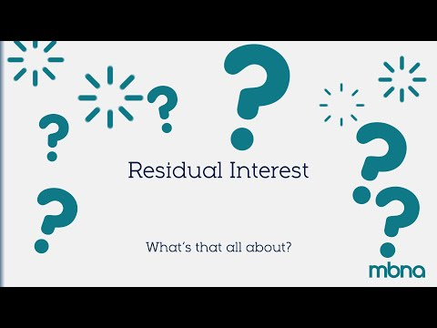 Residual Interest | MBNA