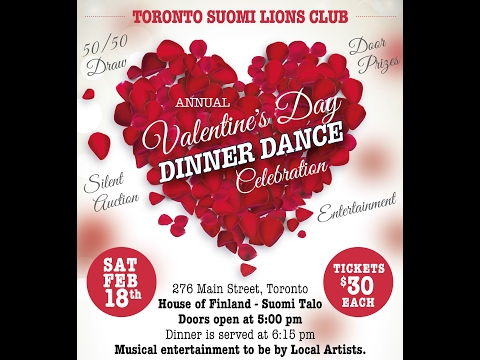 Valentine S Day Dinner Dance 2017 Start Time At 28 50 Youtube