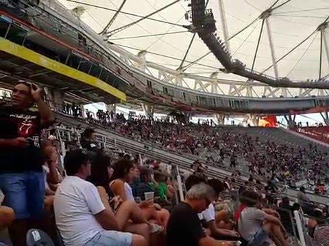 La Beriso, del colegio a los estadios