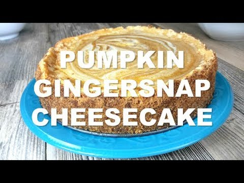 Pumpkin Swirl Ginger Snap Cheese Cake