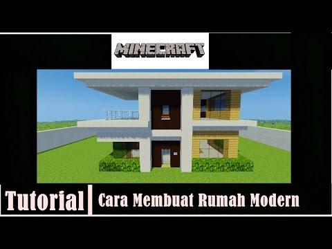 Minecraft Tutorial Cara Membuat Rumah Modern 1