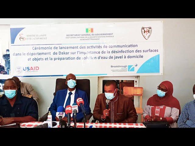 Ouakam: Lancement d'une campagne de sensibilisation sur la désinfection des maisons et lieux publics