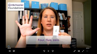 B2 -See, show & say 0, 4 & 5 (Teach your child the names of the numbers and how to show on fingers)