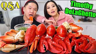 GIANT LOBSTERS + DUNGENESS CRAB + SAS-ASMR SAUCE ft. TIMOTHY DELAGHETTO MUKBANG | Eating Show