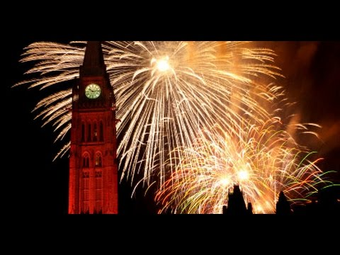 canada ottawa new year fireworks 2017 parliament happy new year