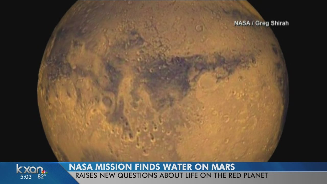 NASA mission finds water on Mars - YouTube