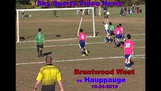 Brentwood West Boys Soccer hosted Hauppauge in a Section XI match