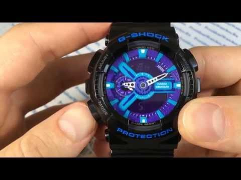 часы g shock ga 110 инструкция Расширенный