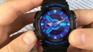Как настроить часы Casio G-SHOCK GA-110HC-1A - инструкция от PresidentWatches.Ru