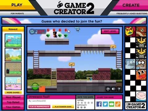 Cartoon Network Game Creator 2 After You Create It Youtube