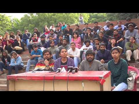 JNUSU's  Press  Release by JNUSU President Geeta Kumari on 16 February 2018