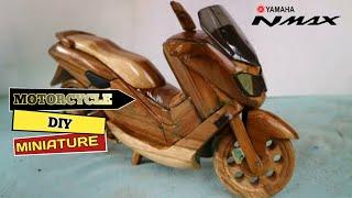 So erstellen Sie eine Miniatur-Holz-Motorrad || YAMAHA N-Max