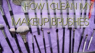 HOW I CLEAN MY MAKEUP BRUSHES | BEAUTY BY KANDI