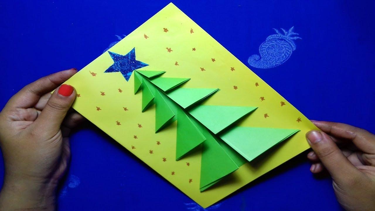 How To Make An Amazing Christmas Pop Up Gift Card Christmas Tree