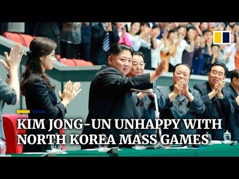Kim Jong-un unhappy with North Korea mass games