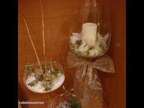 Diy decoraci n de navidad en copas youtube - Diy decoracion navidad ...