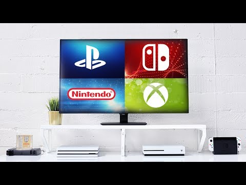 4 Consoles On 1 Screen! 4K Gaming Setup