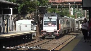 NJ Transit trains railfanning at Summit Station part 1