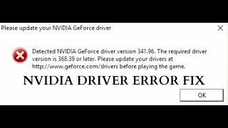 Fix Battlefield 1 Please update your Nvidia GeForce driver