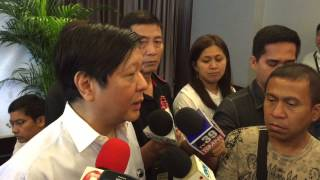 Marcos: Aquino knows everything about Mamasapano incident