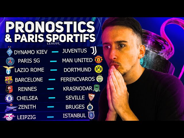 MES 8 PRONOSTICS CHAMPIONS LEAGUE (mardi 20 octobre)  PSG - Man U, Rennes, Barcelone etc
