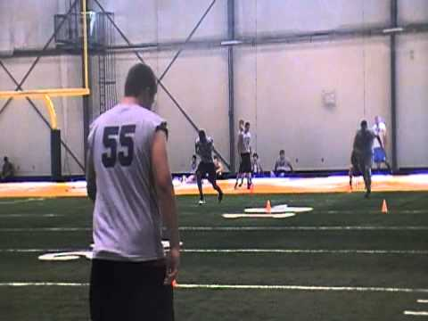 AJ's 40yd Dash At Blue And Grey Combine.