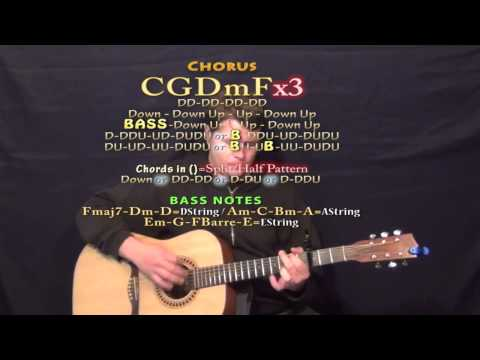Masterpiece (Jessie J) Guitar Lesson Chord Chart  Capo 3rd
