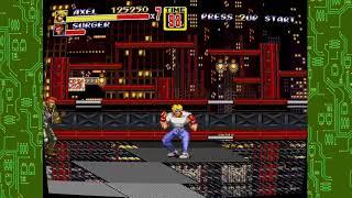 Sega genesis classics streets of rage 2 axel s enemies outta control on bridge level