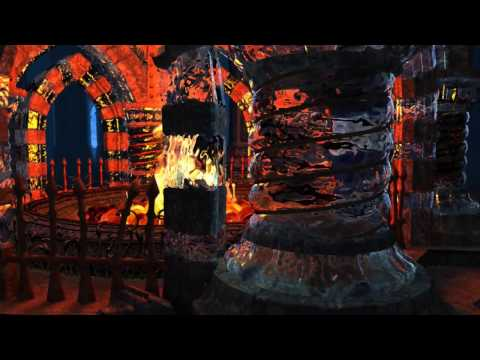 Crystal Fireplace 3D Screensaver HD