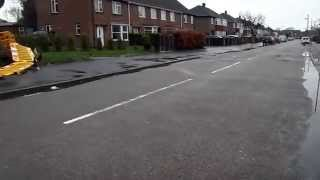 Clarke Avenue, Newark On Trent pavement has been tarmaced after two years campaign