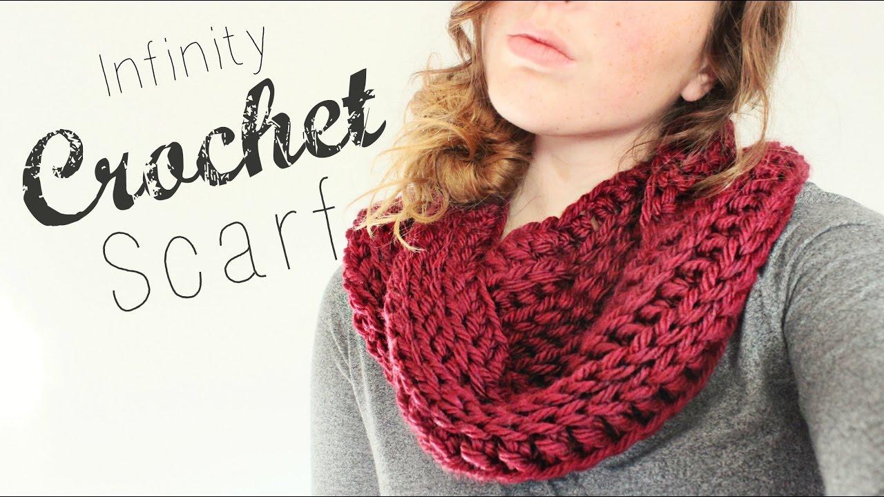 Crochet Infinity Scarf Crochet Beginner Veronica Marie Youtube