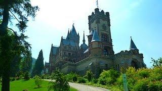 Bonn (3) Rhine and Drachenfels, Siebengebirge, castle Drachenburg Schloss - ReiseWorld