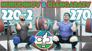 Nurudinov & Djangabaev (Djangabaev 270kg FS + Nurudinov 220 FSx2) - 2018 Asian Games [4k 50]