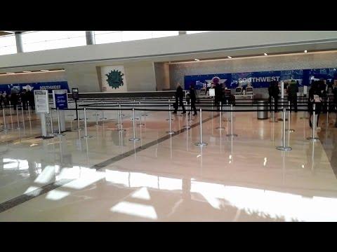 HD DAL Inside NEW Dallas Love Field Terminal Lobby Check-In Interior Nov 8, 2013 Part 10