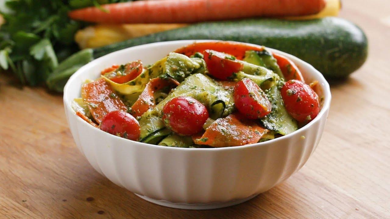 maxresdefault - Pesto Summer Vegetable Ribbon Salad