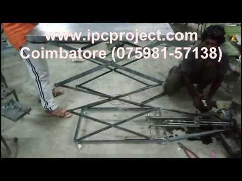 Electro mechanical ladder project / motorized scissor lifter / Best Mechanical Mini Project