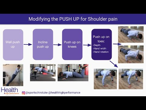 Modifying push ups for shoulder pain   Melbourne Sports Chiropractor