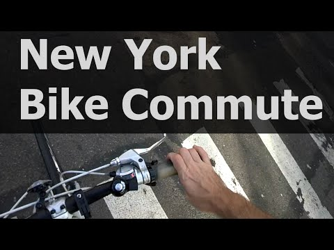 Typical New York City POV Bike Commute