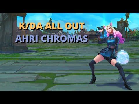 New K/DA ALL OUT Ahri Chromas | Preview