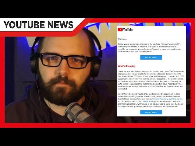 YouTuber unter 1000 Abonnenten verlieren Partner-Status - HerrNewstime