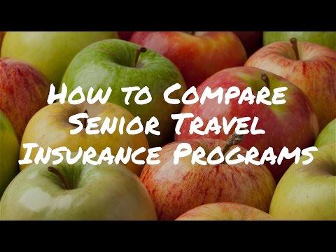 How to Compare Senior Travel Insurance Programs