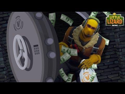 RAPTOR ROBS THE V-BUCK BANK *SEASON 5*Fortnite Short Film