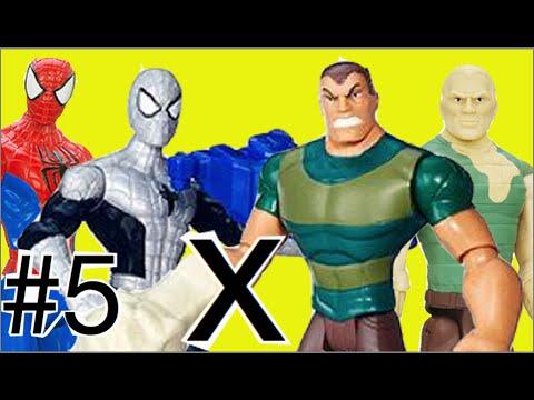 #5 Abrindo Homem Aranha Spider Man Homem Areia Sandman : Luta Marvel Bonecos Brinquedos Toys thumbnail